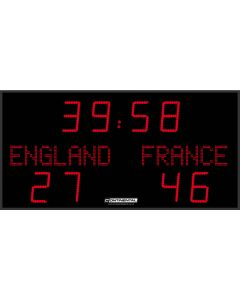 Outdoor scoreboard for football, rugby and hockey