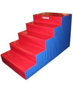 Trampoline foam access steps
