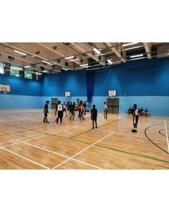Trevira sports hall fabric wall cladding