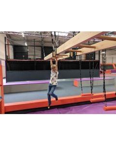 Hanging ladders for adventure parks
