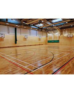 Sports hall line markings