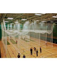 Indoor cricket practice netting two double bay batsmans ends