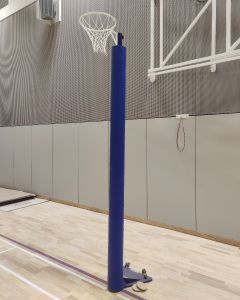 Netball posts - competition - floor anchored