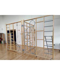 Timber 3-gate Foldaway climbing frame