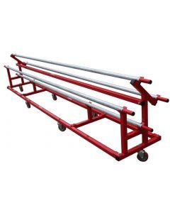 Rhythmic carpet storage trolley