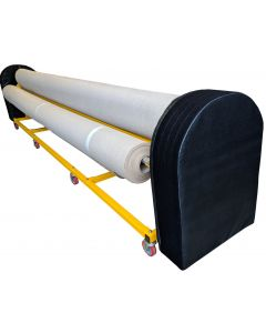Cover for rhythmic carpet storage trolley