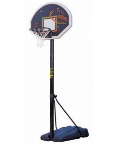 Heavy duty portable basketball goal with fan board