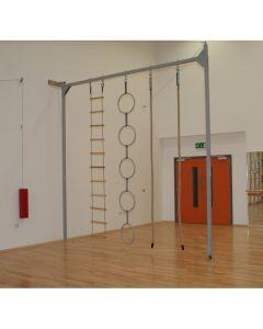 Wall hinged rope frame