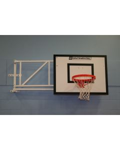 Wall fixed sideways hinged practice basketball goals from Continental Sports Ltd