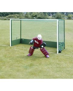 Folding wheelaway hockey goals
