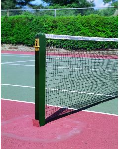 80mm Square Tennis Posts - Aluminium - Socketed