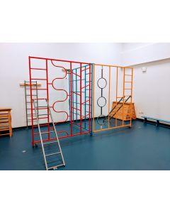 Steel foldaway climbing frame