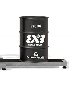 Steel ballast drum for 3x3 Street Slammer