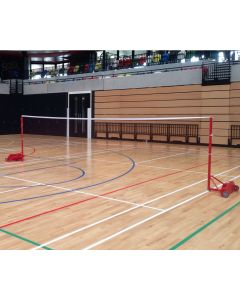 Badminton posts. Competition. Wheelaway, freestanding