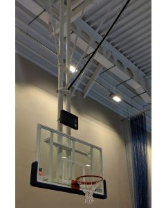 DualTube FIBA 2 ceiling retractable basketball goals