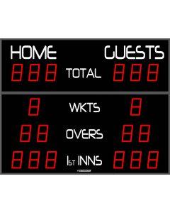 Outdoor cricket scoreboard - 18 digits