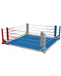 Floor mounted boxing ring