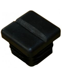 Grooved plastic insert for badminton posts