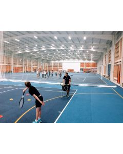 Indoor tennis hall divider netting