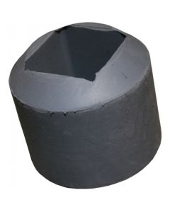 Rubber foot - K119/04GY 38mm angled ferrule grey