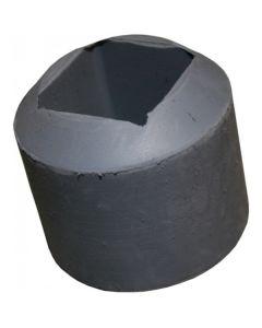 Rubber foot - K119/04GY 38mm angled ferrule grey