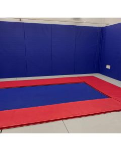 Rebound therapy trampoline rooms