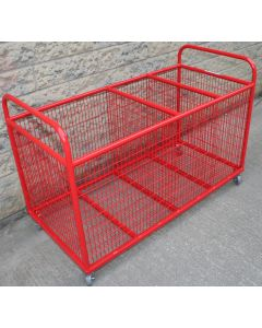 Equipment storage trolley