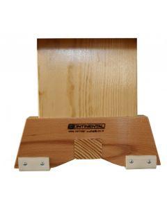 Timber bench end leg