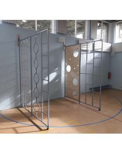 """Two-in-One"" steel wall hinged climbing frame"