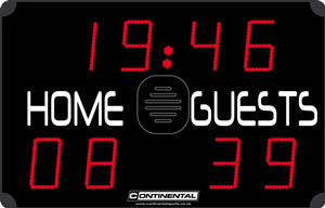 Multi sports electronic scoreboards from Continental Sports Ltd - ECO range