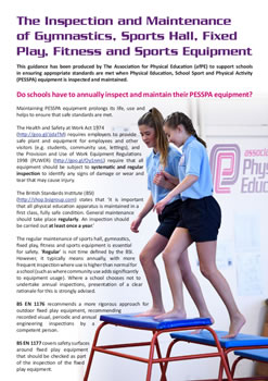 Association for Physical Education - Equipment maintenance advice