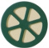 Green and beige HDPE