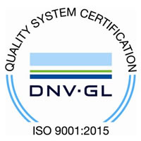 ISO 9001:2015 accredited company