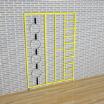 3 Gate Steel Foldaway Climbing Frame - Gate design No.1 Linked rings