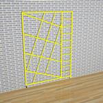 3 Gate Steel Foldaway Climbing Frame - Gate design No.5 Diagonals
