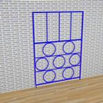 3 Gate Steel Foldaway Climbing Frame - Gate design No.6 Circles