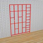 3 Gate Steel Foldaway Climbing Frame - Gate design No.7 Rectangles