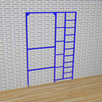 3 Gate Steel Foldaway Climbing Frame - Gate design No.8 Adjustable poles