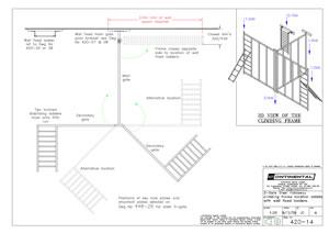 3 Gate Foldaway Climbing Frame loadings and fixings