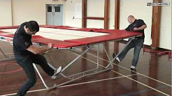 Trampoline video instruction manual 77 series trampoline on fixed height roller stands