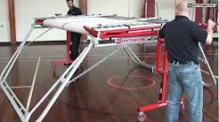 Trampoline video instruction manual - 99/101 on Safelift roller stands