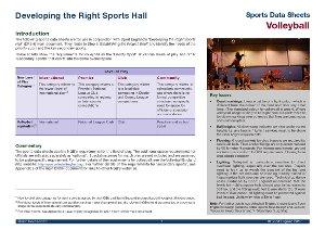 Sport England data sheet - volleyball