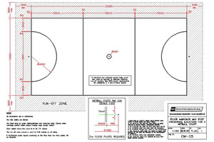 Netball court dimensions