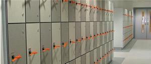 Lockers - solid grade laminate - chequerboard