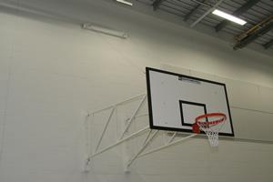 Sports hall walls white