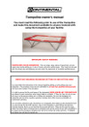 Continental Sports - trampoline owners manual