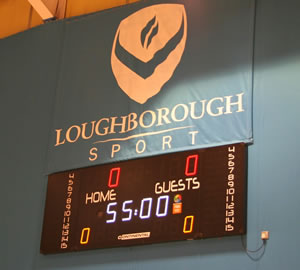 Multi sports scoreboard at Loughborough University by Continental Sports Ltd
