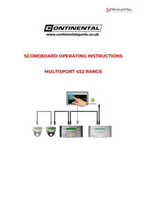 Scoreboard operating instructions manual