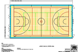 Line markings and court dimensions